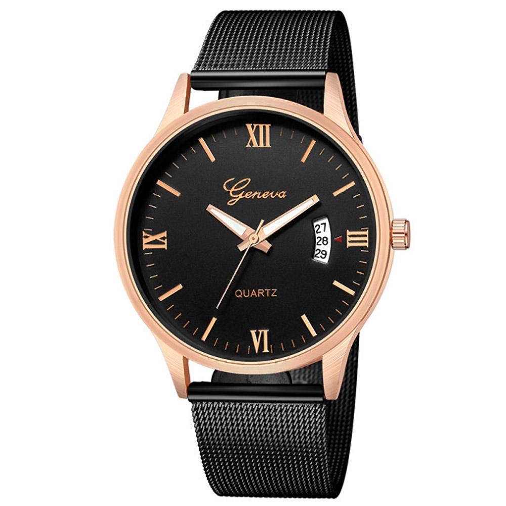 Geneva 日內瓦-極度時尚日曆米蘭帶手錶(3色任選)