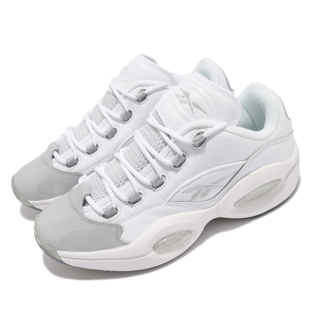Reebok 籃球鞋 Question Low 運動 男鞋 經典款 舒適 避震 戰神 球鞋 穿搭 白 灰 GZ0366