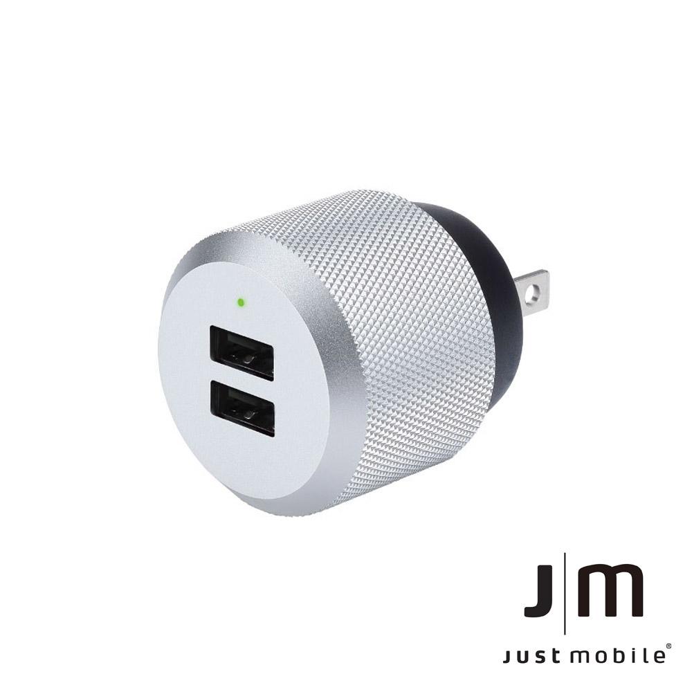 Just Mobile AluPlug 2.4A 鋁質USB雙埠智慧充電器