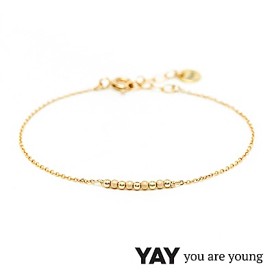 YAY You Are Young 法國品牌 Fruit Dor 雅果手鍊 金+925純銀