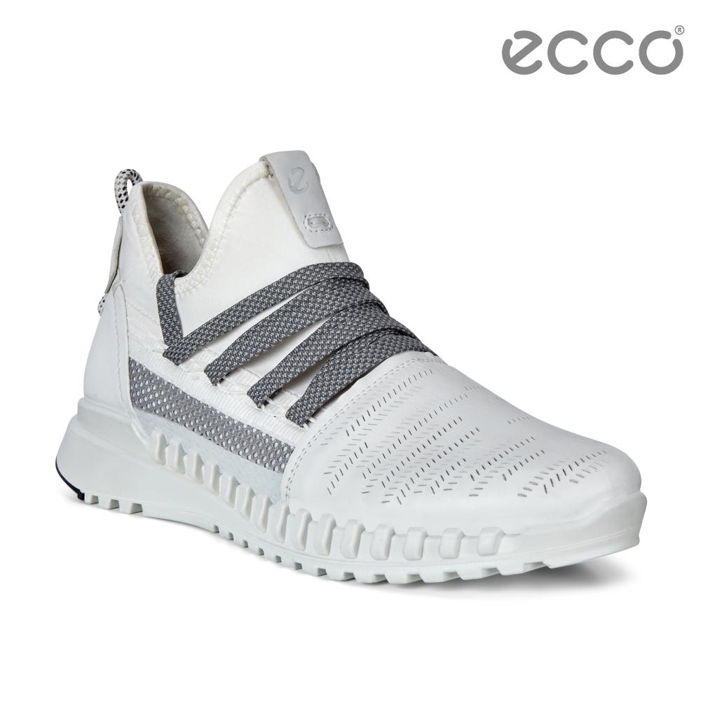 ECCO ZIPFLEX W 酷飛運動透氣運動休閒鞋 女鞋白色