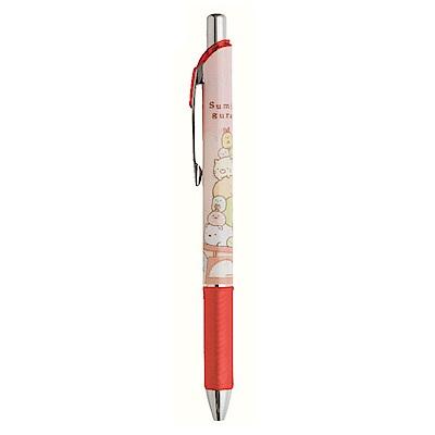 角落公仔 Pentel ENERGEL 0.5mm 極速耐水鋼珠筆。紅色 San-X