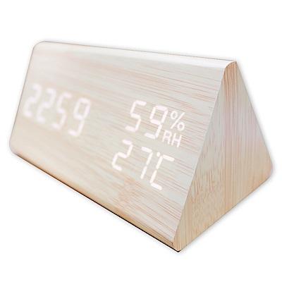 COMET 多功能LED聲控溫溼度電子鐘(GT-CP15)