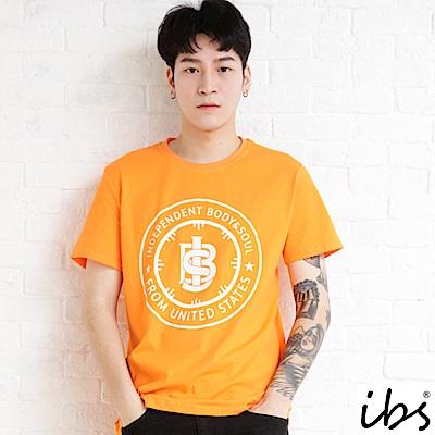 ibs雙圓LOGO圖騰T-男-橘