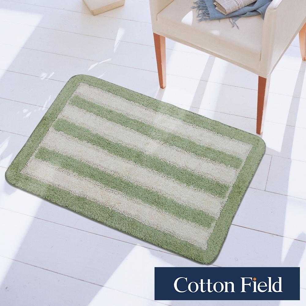 棉花田 華爾特 純棉提花踏墊-綠色(40x60cm)