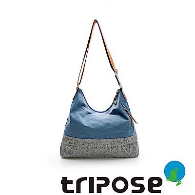 tripose 漫遊系列岩紋輕巧側肩背包 淺藍