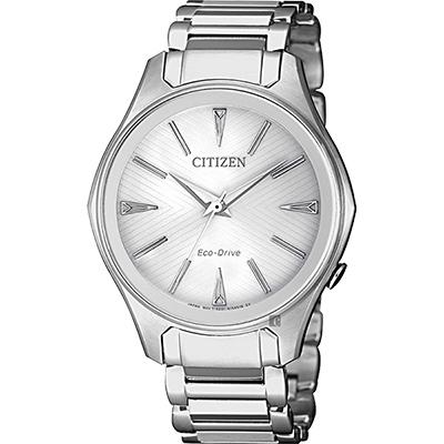 CITIZEN 星辰 限量光動能城市女錶-銀/37mm