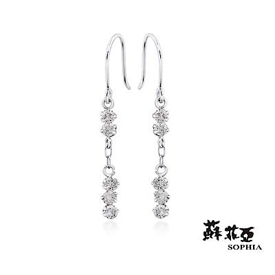 蘇菲亞SOPHIA - 輕珠寶系列天使眼淚鑽石耳環