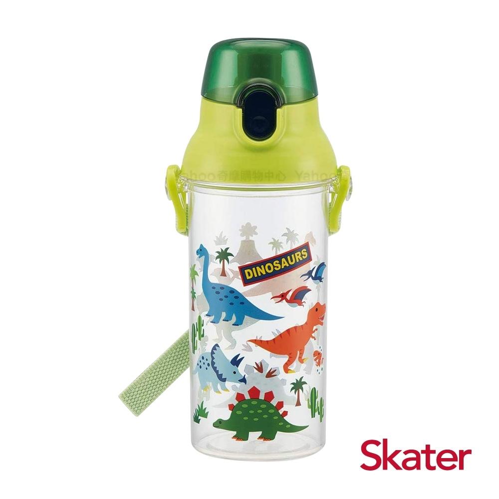 Skater直飲480ml透明水壺-恐龍