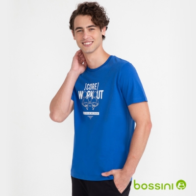 bossini男裝-印花短袖T恤03藍