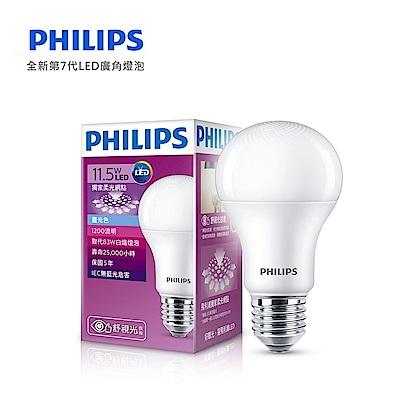 12入組【飛利浦 PHILIPS】第7代 舒視光 11.5W LED燈泡