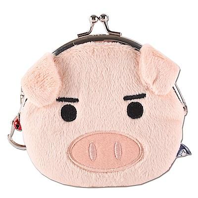 可愛豬臉型珠扣包UNIQUE