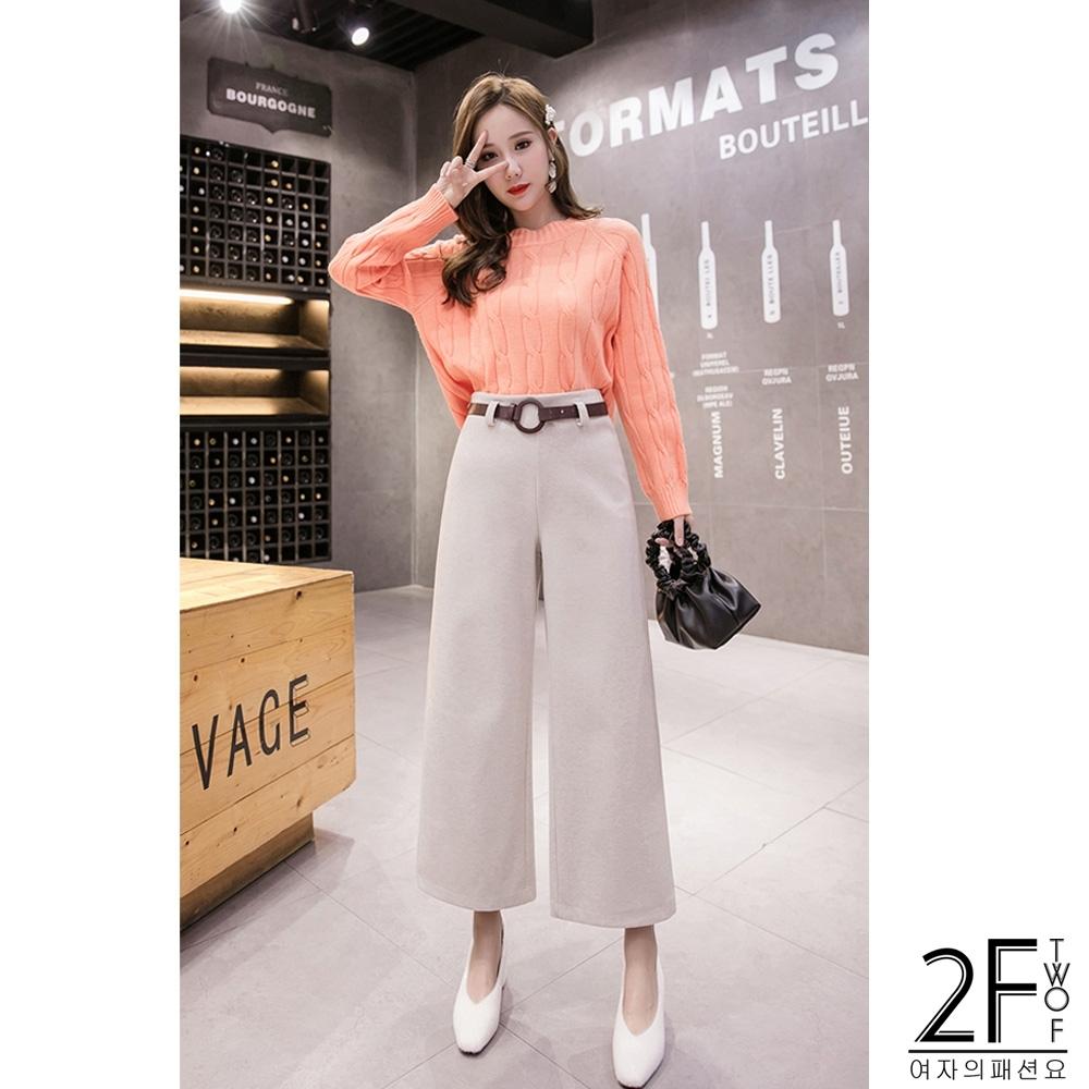 2F韓衣-韓系加厚保暖寬褲-2色(M-XL)