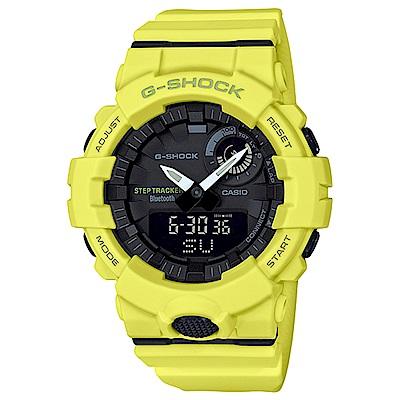 G-SHOCK 藍牙APP運動管理雙顯錶(GBA-800-9A)-黃/48.6mm @ Y!購物