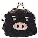 可愛豬造型小珠扣包 黑色UNIQUE