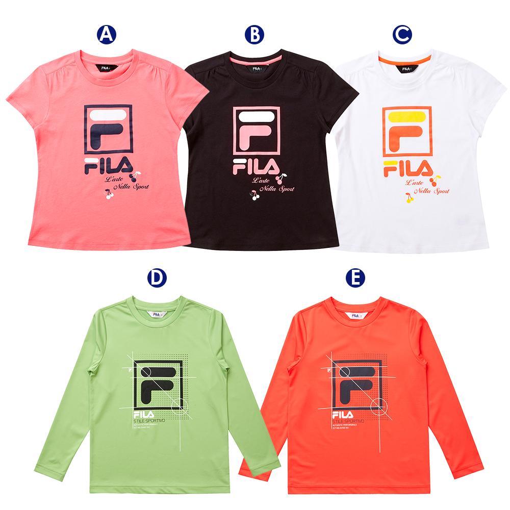 [時時樂限定] FILA女童裝純棉短袖上衣(3色)(尺寸135~165cm)
