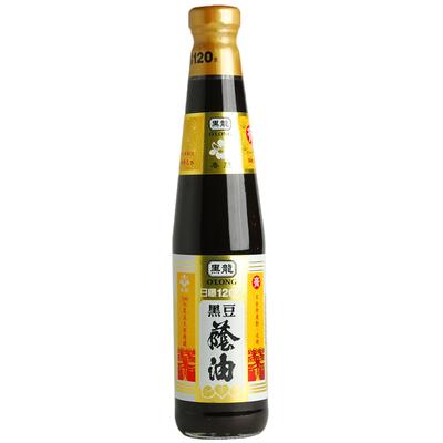 (任選)黑龍 春蘭黑豆蔭油-油膏(400ml)