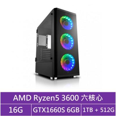 華碩B450平台[戰略鐵匠]R5六核GTX1660S獨顯電玩機