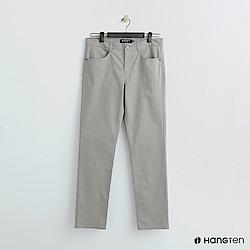 Hang Ten - 男裝 -純色休閒直筒褲-卡其