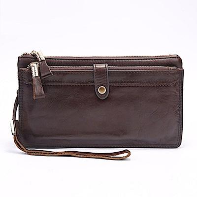米蘭精品 手拿包真皮包包-歐美復古商務時尚男皮件情人節生日禮物73lu1