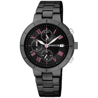 WICCA 甜美少女風三眼計時腕錶 BM2-241-51