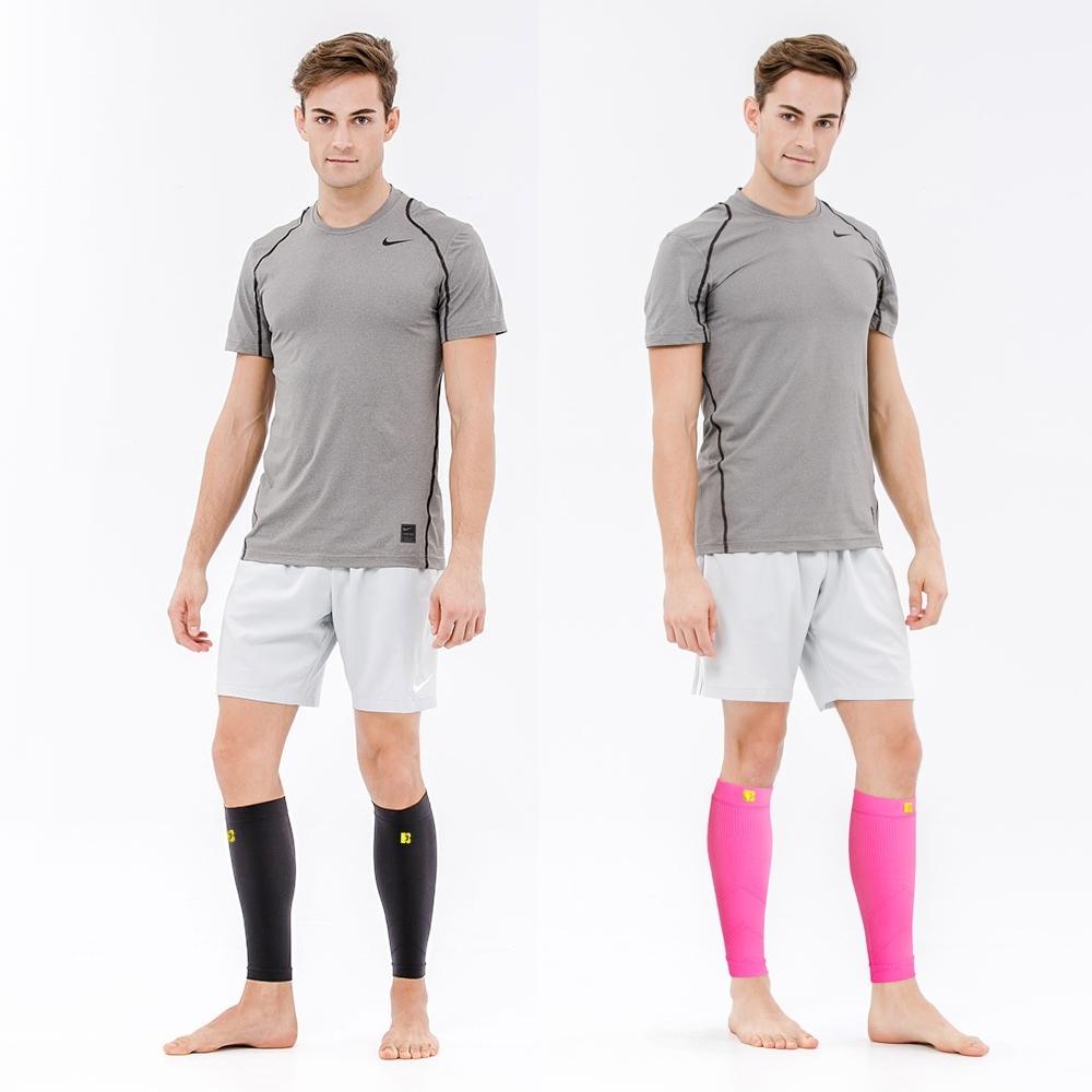 美國Bracoo奔酷 高階小腿襪套 螢光綠/桃紅 (M/L) LS70