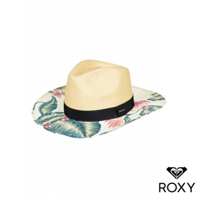 【ROXY】LOOK FOR RAINBOWS 草編帽 白