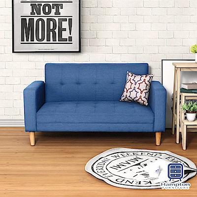 Hampton 漢妮波特曼布面雙人沙發-藍色