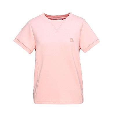 FILA #漢城企劃 女款短袖圓領T恤-粉 5TET-1419-PK