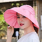 Decoy 加大帽沿 荷葉鏤空防曬遮陽帽 粉