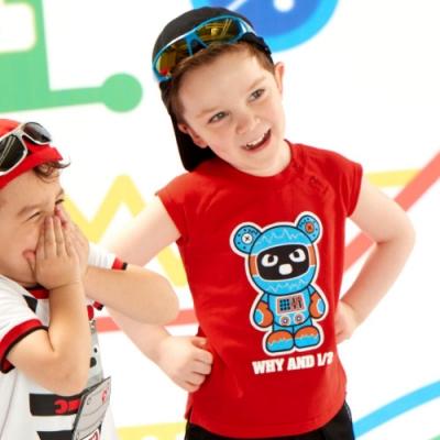 WHY AND 1/2 mini 普普熊棉質萊卡T恤 1Y~4Y