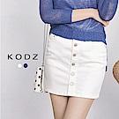 東京著衣-KODZ 歐美爆款極度修身排釦牛仔裙-S.M.L(共二色)