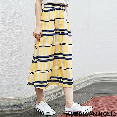 AMERICAN HOLIC 前扣造型設計喇叭裙