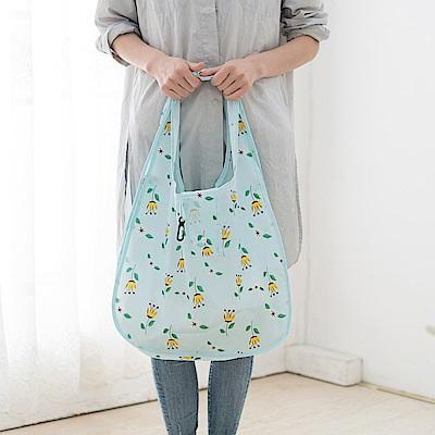 E.City_ 花漾便攜摺疊購物袋(3入)