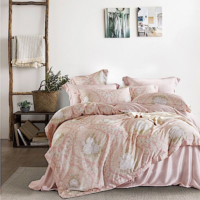 Lily Royal 60支頂級天絲 四件式兩用被床包組 雙人 星夜溫柔粉