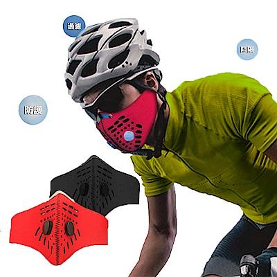 【 X-BIKE 晨昌】高效濾塵運動防護 口罩 自行車族、跑步族群、通勤、騎車必備 -黑色