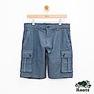 男裝Roots 博靈頓條紋工作短褲-藍