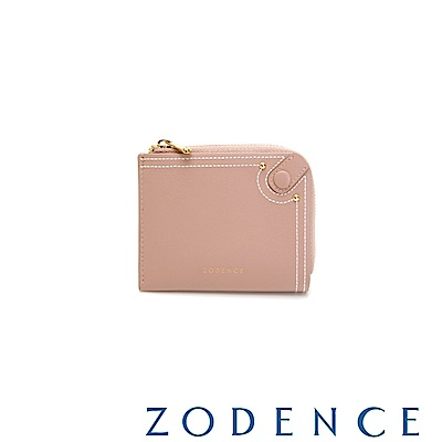 (網路限定)ZODENCE 35周年限定進口牛皮零錢包 粉