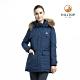 【hilltop山頂鳥】女款超潑水保暖蓄熱羽絨短大衣PF22XF04ECE0樣衣藍 product thumbnail 1