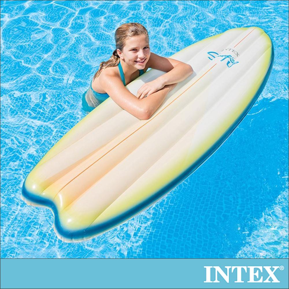 INTEX 衝浪板造型浮排178x69cm-2色可選(58152)