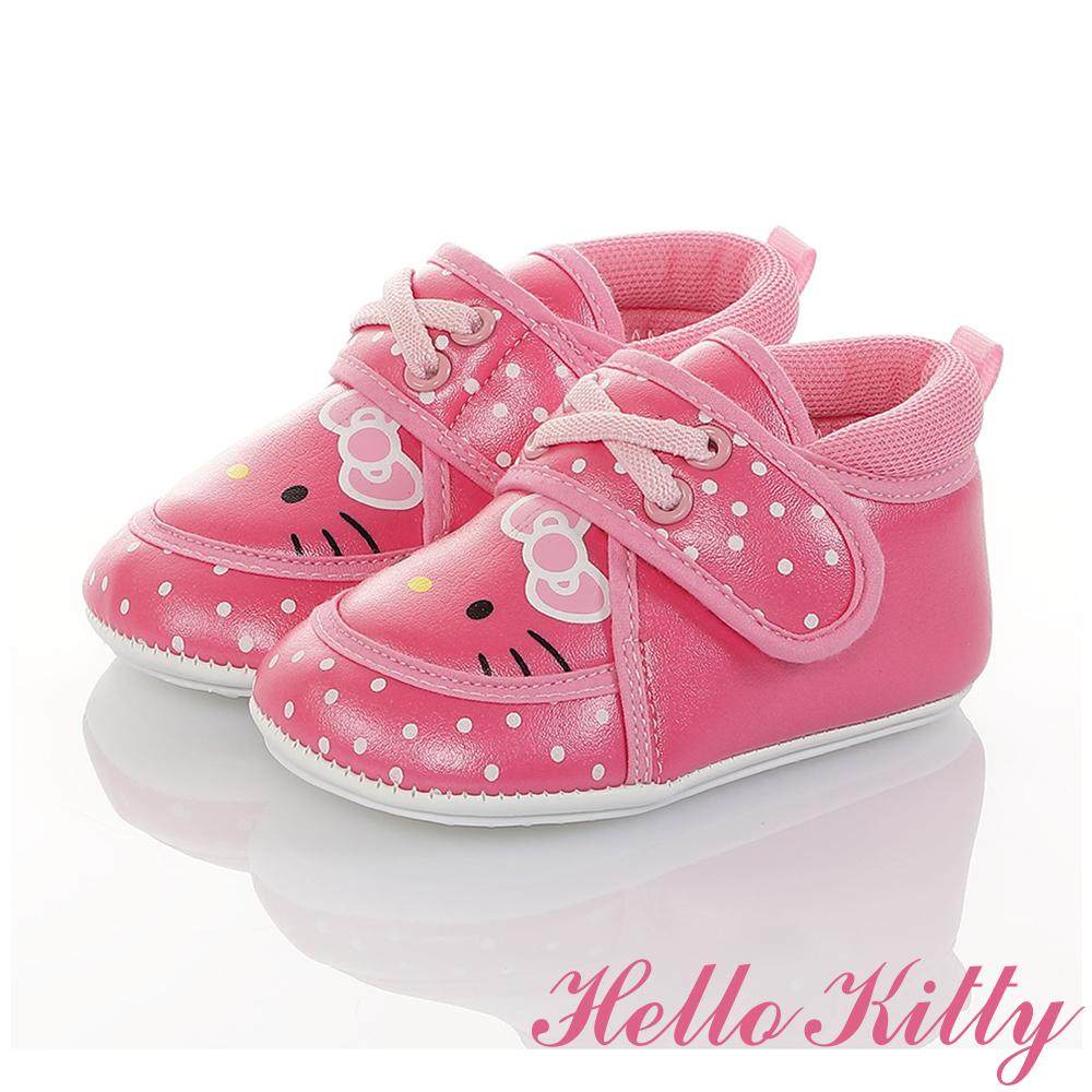 HelloKitty童鞋 點點系列 輕量柔軟減壓寶寶學步鞋-桃