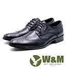 W&M 大尺碼雕花紳士皮鞋 男鞋 - 黑