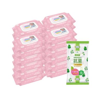貝比Q EDI超厚超純水柔濕巾(80抽)x24包/箱/無香料+貝恩Baan潔膚抗菌柔濕巾30抽*1包