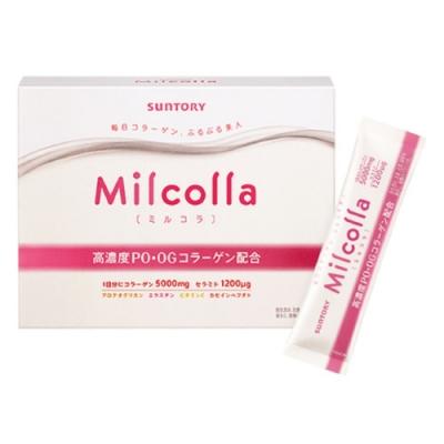領券再折 三得利 Milcolla 蜜露珂娜膠原蛋白粉(30日份/盒) (隨機加贈隨身包x1)