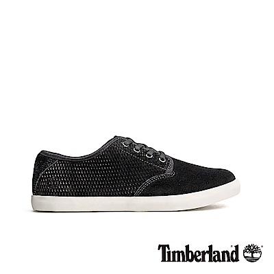 Timberland 女款黑色正絨面皮革休閒鞋|A1WX5