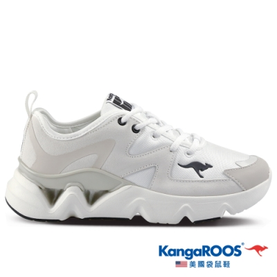 KangaROOS 美國袋鼠鞋 女 GROOVE II音樂律動老爹鞋/休閒鞋(米白-KW11261)