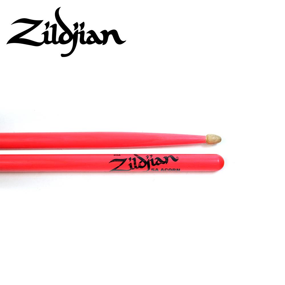 ZILDJIAN 5ACW DGP 螢光鼓棒 桃粉色款
