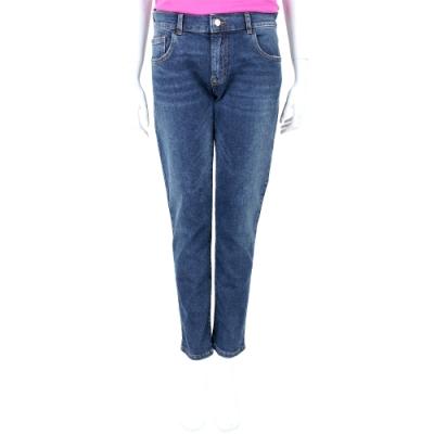 Emporio Armani J36 Regular Fit 破損細節藍色修身牛仔褲