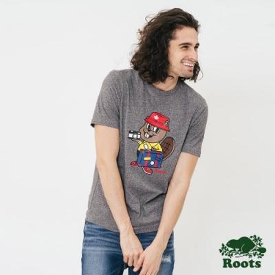 Roots 男裝-巴迪短袖T恤-灰