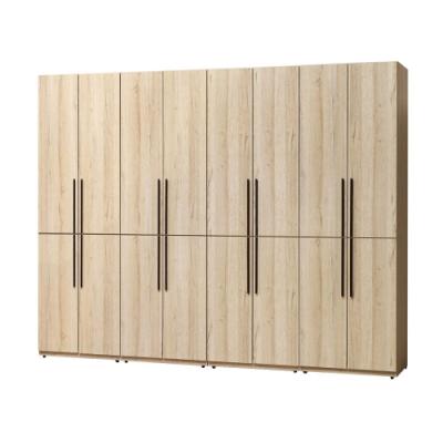 文創集 法尼亞10.1尺多功能衣櫃(吊衣桿+二抽+拉合層格)-304x57x243免組